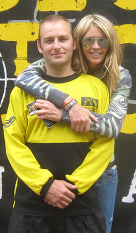 elle macpherson at Delta Force Paintball